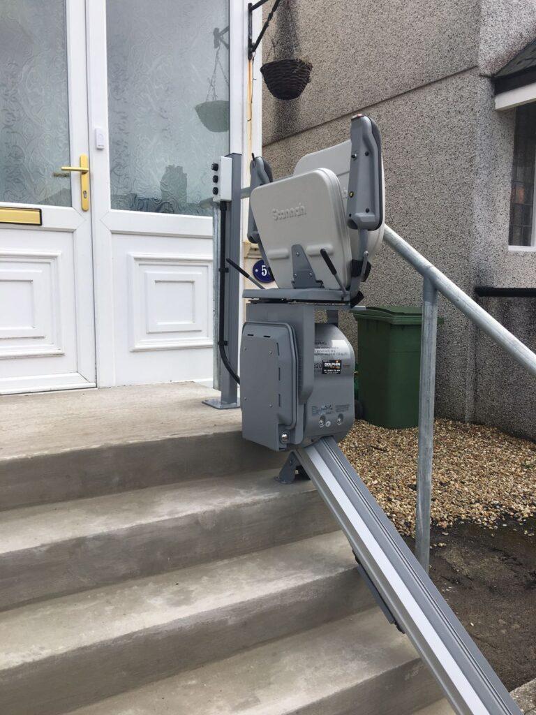 Outdoor stairlift installation Devon