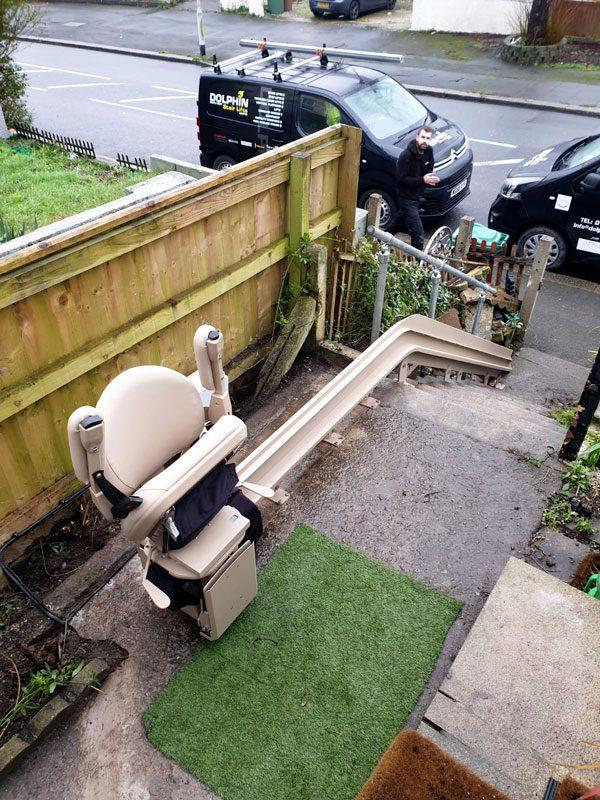 Bruno-Outdoor-stairlift-installation