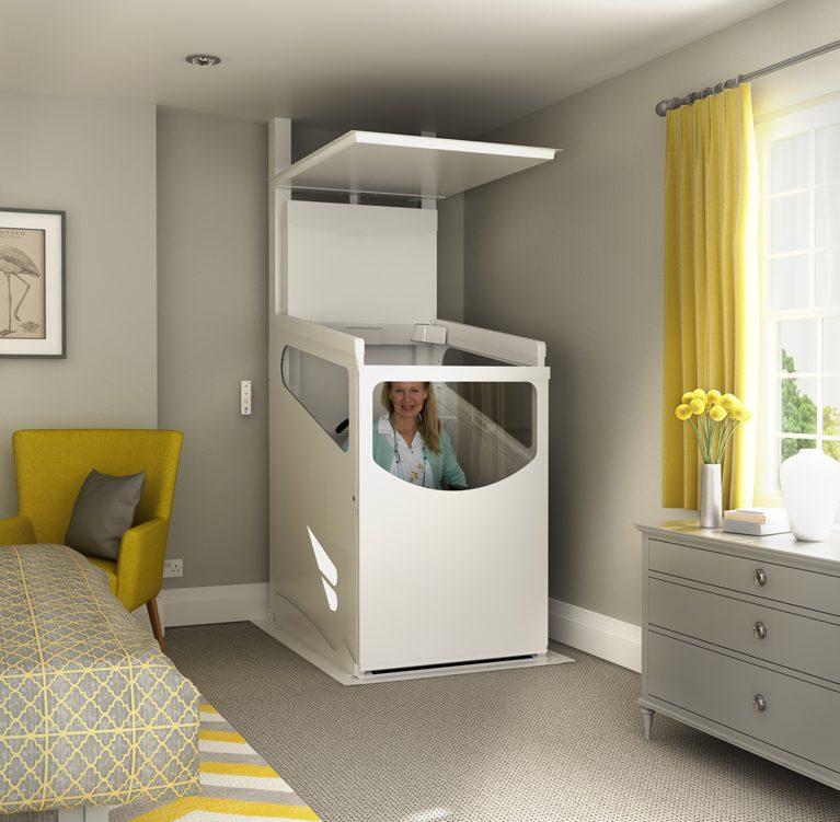 Harmony-Through-Floor-Home-Lift-Upstairs-Lift-Door-Closed